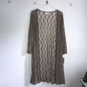 Brown lace cardigan